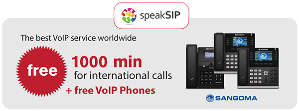 Free Sangoma VoIP phones with speakSIP subscription